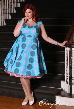 Brooke Dress - Turquoise Medallion