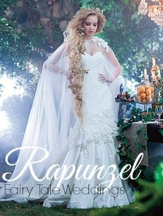 Rapunzel-inspired Wedding Dress
