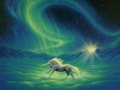 Winter Wonder by Kirk Reinert ~ Unicorn