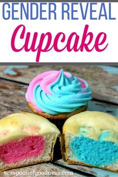 #genderreveal #babyshower #babygirl #babyboy #cupcakes #cupcakesurprise