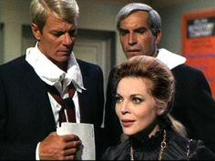 Barbara Bain, Martin Landau, and Peter Graves in Mission: Impossible Mission Impossible Tv Series, Peter Graves, Spy Shows, Covert Operation, Actor James, Paul Newman, Comedy Films, Me Tv, Classic Tv