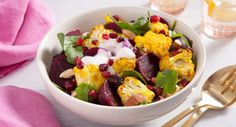 Brighten up your day with this warm and nourishing Moroccan Roast Cauliflower Salad. Recipe courtesy of Eat Live Move. Lunch Recipes, Whole Food Recipes, Salad Recipes, Vegetarian Recipes, Cooking Recipes, Easy Recipes, Roasted Cauliflower Salad, Spring Recipes, Beetroot