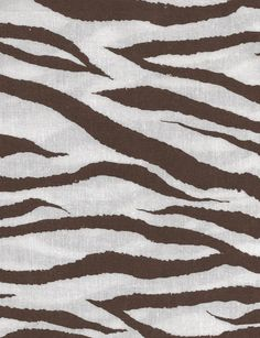 Zebra brown and White, Cotton Fabric, Quilting