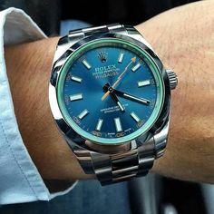 WRISTPORN™ sur Instagram : Rolex Milgauss   #WRISTPORN by @dannydayekh   www.wristporn.com