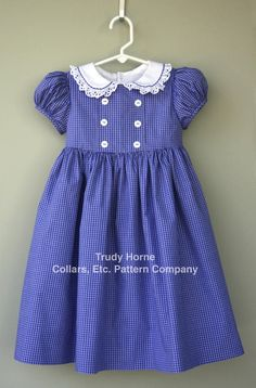 The Bodice Dress sewing pattern by Trudy Horne/Collars, Etc. Pattern Co. Toddler Dress, Toddler Outfits, Baby Dress, Kids Outfits, Sewing Patterns For Kids, Dress Sewing Patterns, Clothing Patterns, Baby Girl Dress Patterns, Skirt Patterns