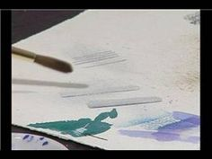 How to Fix Watercolor Painting Mistakes : Fixing Watercolor Painting Mistakes: Heavy Paper - YouTube