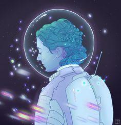 Astronaut Girl Art Print by Phazed   Society6