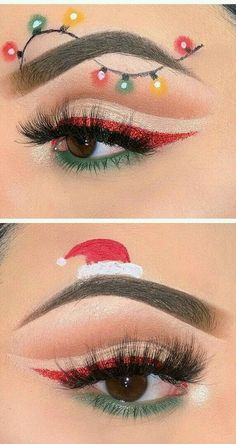 Bewildering CHRISTMAS MAKEUP LOOKS! It's Very Funny and Amazing For This December! Part 30 ; christmas makeup looks; christmas makeup ideas Make - up 🌸✨fσℓℓσω Makeup Eye Looks, Eye Makeup Art, Makeup For Green Eyes, Eyeshadow Makeup, Gold Makeup, Prom Makeup, Makeup Cosmetics, Bride Makeup, Lip Makeup