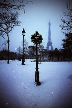 Winter Snow In Paris
