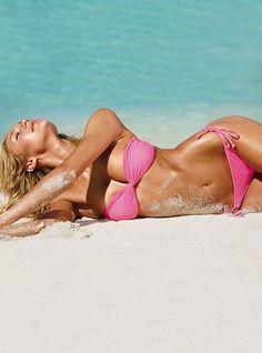 pink bikini. victoria's secret