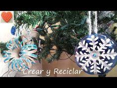Diy Copo de Nieve Reciclando Mirna y sus manus. Diy. Recycling Snowflake - YouTube