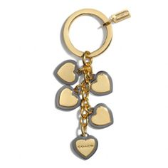 The Two-tone Heart Multi Mix Key Ring from Coach