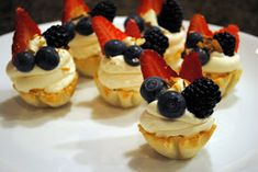 Tiddly Winks and Moon Pies: Elegant & Easy White Chocolate Fruit Tarts Easy Fruit Tart, Fruit Tarts, Delicious Fruit, Yummy Food, Moon Pies, Sweet Dough, Pie Dessert, Summer Desserts, White Chocolate
