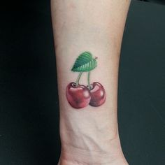 Keeping it simple with these #cherries #heart #leaf #chef #sweet #natebeavers #houston #fusionink #fruit #cherry