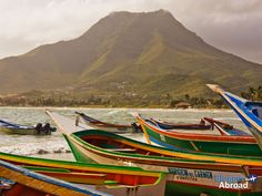 Fishing boats on Margarita Island, Venezuela Isla Margarita, Spring Painting, West Indies, Travel Information, Nova Scotia, Fishing Boats, Vacation Spots, Storytelling, Places Ive Been