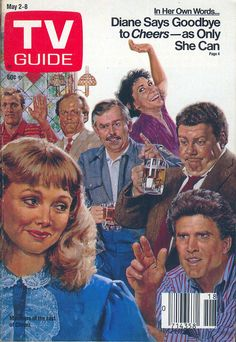 The cast of Cheers portrayed on the cover of TV Guide (May 2, 1987)