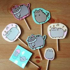 10th Birthday Parties, 12th Birthday, Pusheen Cakes, Pusheen Birthday, Cupcake Toppers, Bday Girl, Cat Party, Party Cakes, Birthdays