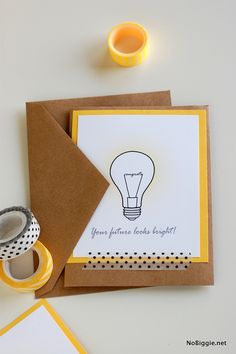 Free printable - Your future looks bright! card | NoBiggie.net