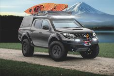First up in the is the Atacama Concept from Leven Mitsubishi Edinburgh! It has a one inch body and suspension lift kit with steel wheel tyre combo. With a pillar snorkel, winch and pop up hardtop tent it's prepared for any situation! Mitsubishi Pickup, Mitsubishi Motors, Triton 4x4, Outlander Phev, Truck Tent, Top Luxury Cars, Lift Kits, Steel Wheels, Pickup Trucks