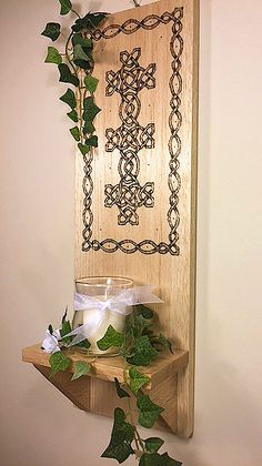 Di's Studio Designs Home Decor and Gifts Home Decor Styles, Home Decor Items, Celtic Decor, Irish Decor, Wall Shelf Decor, Wood Burning Art, Candle Wall Sconces, Floral Theme, Candleholders