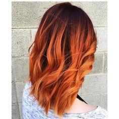 Risultati immagini per short red ombre hair