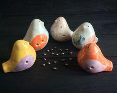 Новые птички, разлетелись   сделаю для вас, 230 рублей. #свистульки #птички # керамика