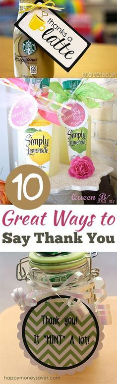 10 Great Ways to Say Thank You