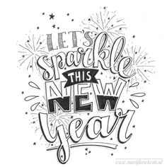 Loving all these fonts and styles! The flourishes add to the lettering, instead of taking away and it really pops! Hand Lettering Quotes, Typography Quotes, Lettering Design, New Year Calligraphy, Calligraphy Quotes, New Year Doodle, December Quotes, Doodle Quotes, Drawing Quotes