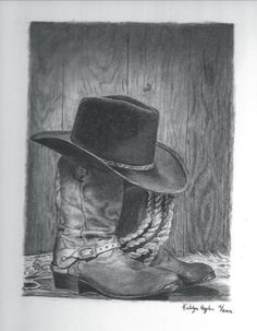 Cowboy boots and hat...