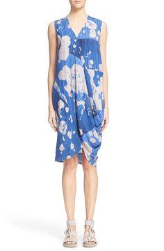 Zero + Maria Cornejo 'Ulla' Lotus Print Stretch Silk Charmeuse Dress