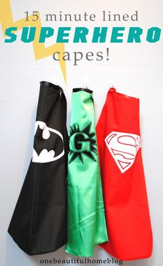 15 Minute DIY Superhero Capes! So easy to make and they look fantastic!!