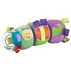 Taggies Clickety Twist Toy by International Playthings. $6.75. From the Manufacturer                What are Taggies? Based on the idea that babies and kids love to rub satin edges, clothing labels and tags, Taggies toys are modeled after the ultra-popular interactive security blankets that were created by an early childhood educator and mother of three.                                    Product Description                Twist it up, mix it up and hear it go clickety-click! O...