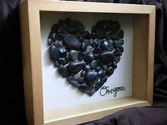 I think I found something to do with all the heart shape rocks my husband has found for me...