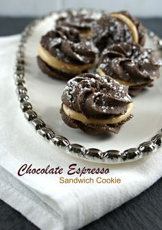 Authentic Suburban Gourmet: Simply Sublime | Chocolate Espresso Sandwich Cookies