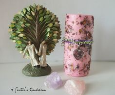 Pink Love Spell Magic Working Candle with by 2SistersCauldron, $14.95