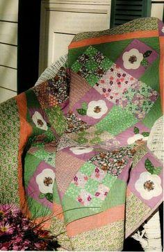 Nine Patch Applique Quilt Pattern Pieced//Applique SH