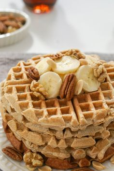 These fluffy waffles make the perfect breakfast. With coconut oil and whole wheat flour, you don't have to feel guilty for getting seconds.