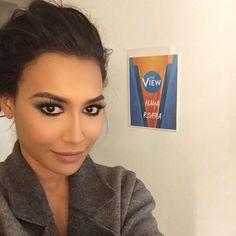 Naya Rivera backstage at The View on January 14th