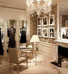 Classic dressing stylishly elegant wallpaper chandelier