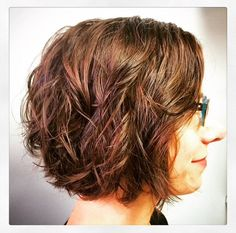 Permanent soft curl wave by Jamie, haircut by Alysia.    www.dominobb.com  #Perm #ShortHair #Davines #Boucle