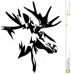 black and white wild deer wall art - Google Search