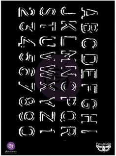 Prima Finnabair Elementals Stencil - Alpha