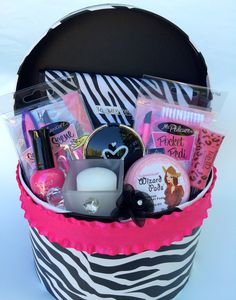 Super cute gift basket for a young girl... Wonderfully Made Baskets