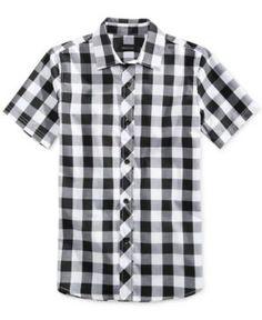 Ring of Fire Mason Buffalo Plaid Shirt, Big Boys (8-20), Only at Macy's  - White XL