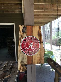 Alabama cutout built with reclaimed pallet wood