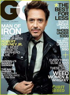 Celeb Diary: Robert Downey Jr. in GQ SUA (mai 2013)