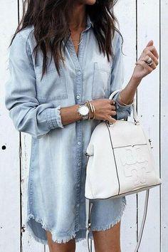 efd69c42306 42 Best Denim Shirt Dress images   Denim shirt dresses, Blue jean ...