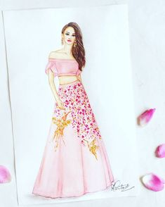 Ideas Fashion Design Sketches Indian For 2019 Dress Design Drawing, Dress Design Sketches, Fashion Design Sketchbook, Fashion Design Drawings, Dress Drawing, Fashion Sketches, Art Sketchbook, Fashion Drawing Dresses, Fashion Illustration Dresses