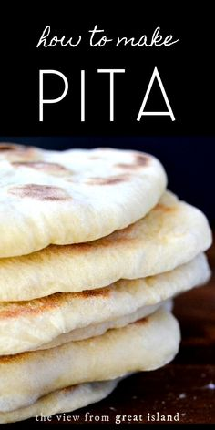 Recipes With Yeast, Pita Recipes, Yeast Bread Recipes, Flatbread Recipes, Baking Recipes, Greek Recipes, Vegan Recipes, Pitta Bread Recipe, Fast Recipes