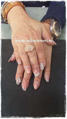 Bling Bling nails nude nails nail art strass